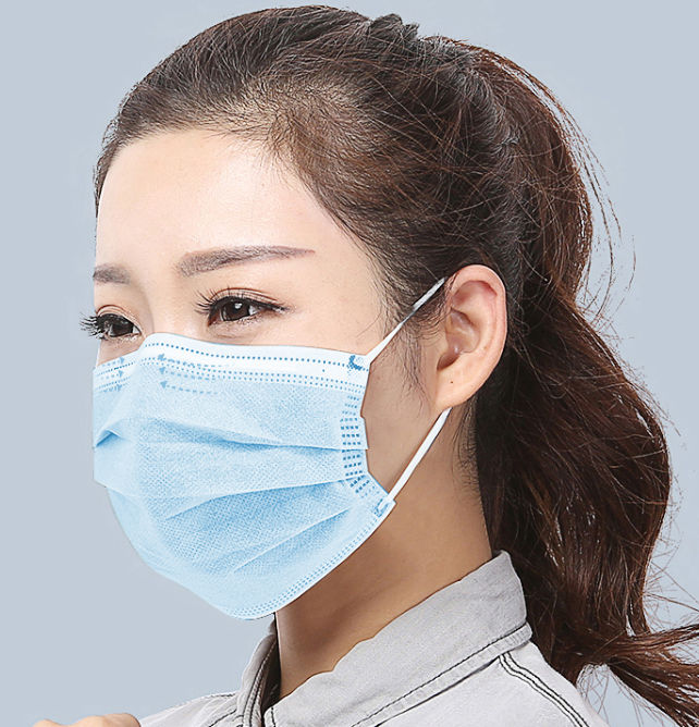 A medical person wearing a disposable mouth mask to prevent bacteria/virus from entering